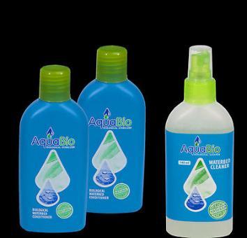 2 x Aqua Bio Wasserbetten Konditionierer,Vinylreiniger 140 ml ,100% Bio