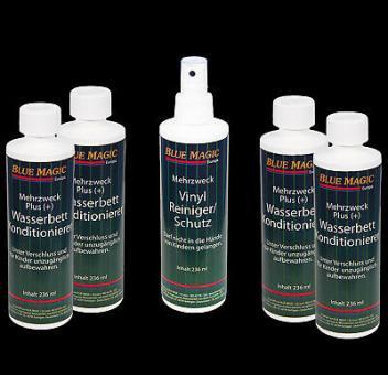 4 x Wasserbetten Konditionierer 236ml,1x Blue Magic Vinylreiniger,Pumpzersteuber