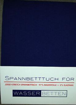 Kirsten Balk Spannbetttuch für Wasserbetten Jersey 180/200,200/220 ,königsblau