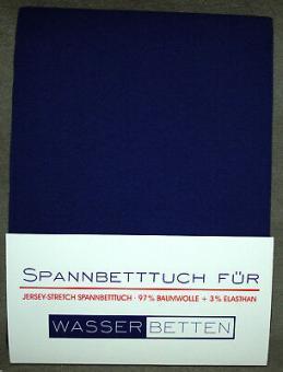Kirsten Balk Spannbetttuch für Wasserbetten Jersey 140/160x200/220 ,königsblau
