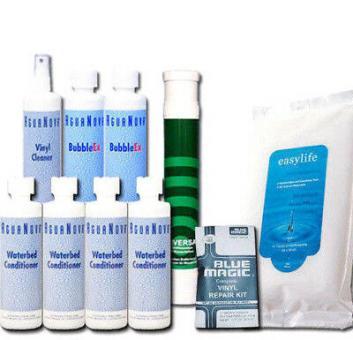 Wasserbetten Konditionierer,Pumpe ,Vinylcreme,Cleaner,Bubbel Ex,Tücher, Zubehör