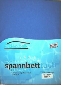 Kirsten Balk Spannbetttuch für Wasserbetten Jersey Stretch 140-160/200/220,royal