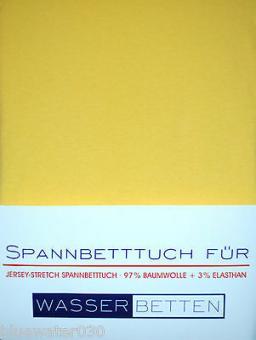 Kirsten Balk Spannbetttuch für Wasserbetten Jersey 180/200,200/220 ,creme,gelb