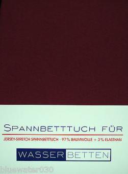 Kirsten Balk Spannbetttuch für Wasserbetten Jersey 140/160,200/220 ,Bordeaux
