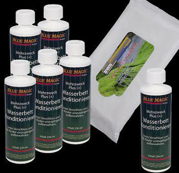 Pflegeset, Wasserbetten Konditionierer 236 ml,Vinylreinigungstücher