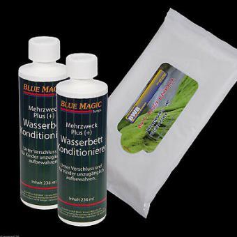 2 x Blue Magic Wasserbetten Konditionierer 236 ml,  Vinylreinigungstücher 15stk
