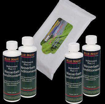 4 x Wasserbetten Konditionierer 236 ml Blue Magic,Vinylreinigungstücher