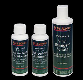 2 x Blue Magic Wasserbetten Konditionierer 118 ml 1x Vinylreiniger Vinylpflege