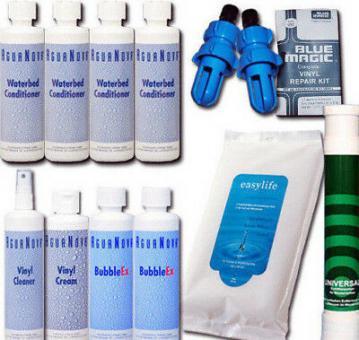 Wasserbetten Konditionierer,Vinylcreme,Cleaner,Bubbel Ex,Tücher, Zubehör